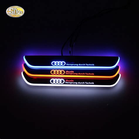 Led door sill for Audi A4 B9 RS4 2013-2015 moving light