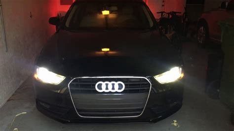 Part 2: Installed Audi Logo Light as DRL & Reflective TRON