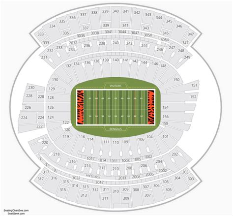 Paul Brown Stadium Seating Chart   Seating Charts & Tickets